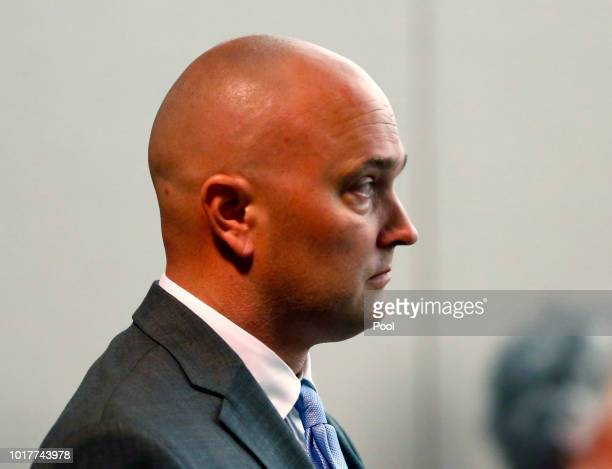 Roy Oliver fired Balch Springs police officer who is charged with the murder of 15yearold Jordan Edwards watches as lead prosecutor Michael Snipes...