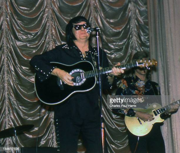 Roy Orbison performs at The Dome on March 1, 1977 in Brighton, England.