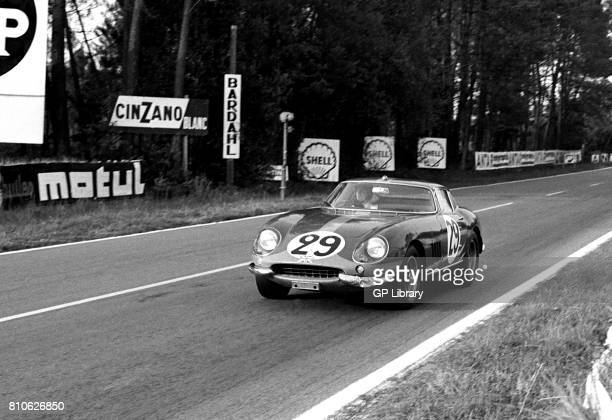 Roy Pike driving a Ferrari 275GTB/C at Le Mans 9th overall 1st GT Class