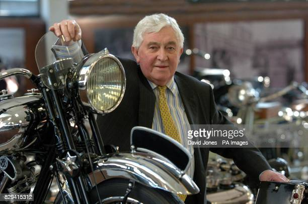 Roy Richards owner of the National Motorcycle Museum near Birmingham which reopened its doors to the public 14 months after a fire which devastated a...