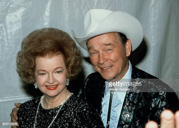 b6770b029ea Roy Rogers and his wife Dale Evans pose circa 1986 in Dallas USA