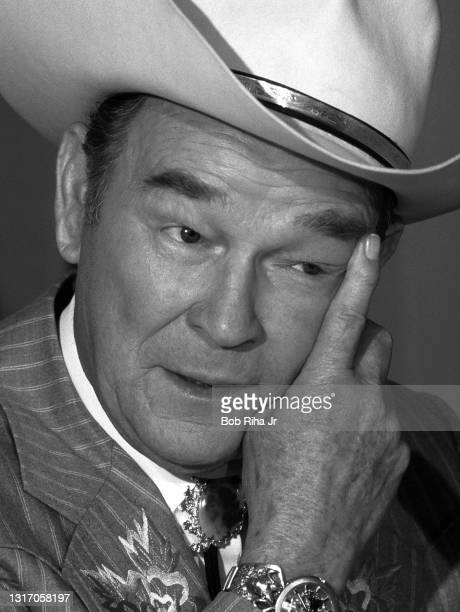 Roy Rogers during press conference with The Nashville Network, June 13, 1986 in Los Angeles, California.