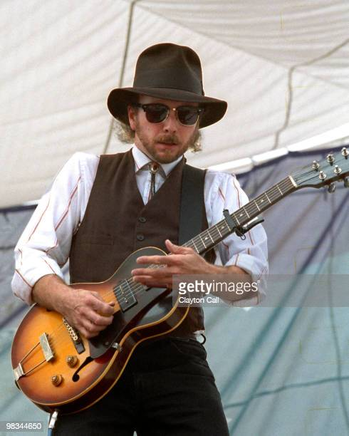 Roy Rogers performs at the Electric On The Eel concert in Piercy CA near the Eel River on August 25 1990