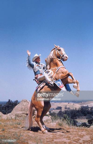 Roy Rogers rides his horse Trigger on May 12, 1958.