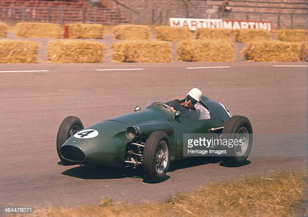 Roy Salvadori driving an Aston Martin Dutch Grand Prix Zandvoort 1959 His race only lasted until lap 3 when he retired because of the engine...
