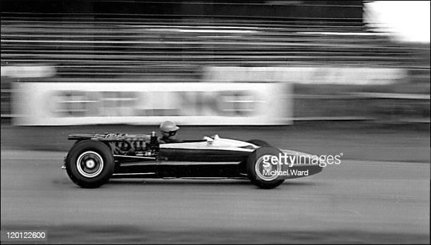 Roy Salvadori driving at speed at Goodwood