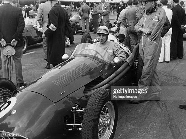 Roy Salvadori in a Maserati Goodwood 1954 Roy Salvadori pictured on the starting grid of the 1954 Lavant Cup race at Goodwood in which he eventually...