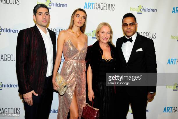 Roy Sebag Alina Baikova Diana Picasso and Maxwell attend the Event Name ARTrageous Gala Dinner Art Auction Celebrating Hour Children 30th Anniversary...