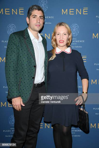Roy Sebag and Diana Widmaier Picasso attend Mene 24K Jewelry By Diana Picasso Celebrations during Paris Fashion Week SS18 on October 2 2017 in Paris...