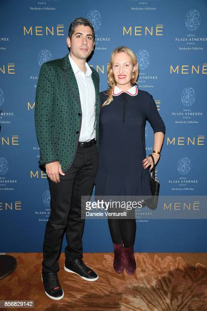 Roy Sebag and Diana Widmaier Picasso attend MENE Collection Celebrations during Paris Fashion Week SS18 on October 2 2017 in Paris France