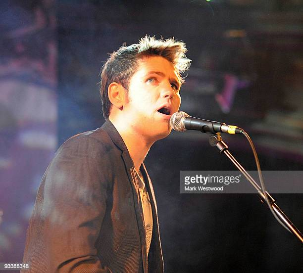 Roy Stride of Scouting For Girls performs at Mencap's Little Noise Sessions on November 24 2009 in London England