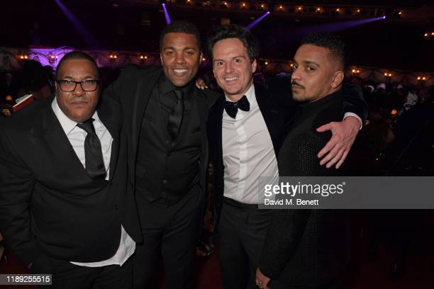 Roy Williams Ray Fearon Andrew Scott and guest attend the after party of the 65th Evening Standard Theatre Awards in association with Michael Kors at...