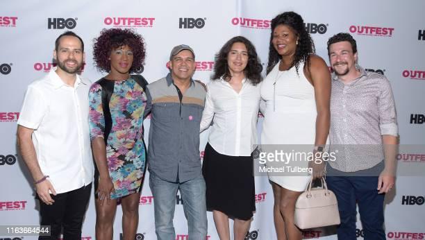 Roy Wol Kristen Parker Lovell Flavio Alves Carlie Guevara Inava Black and John Potondo attend a screening of The Garden Left Behind at the 2019...