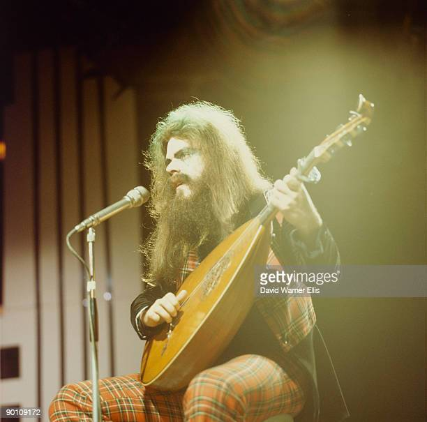 Roy Wood and of Wizzard performing solo hit Dear Elaine on TV show at BBC studios in August 1973