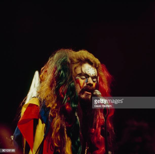 Roy Wood of Wizzard performs on Top of the Pops tv show in April 1974