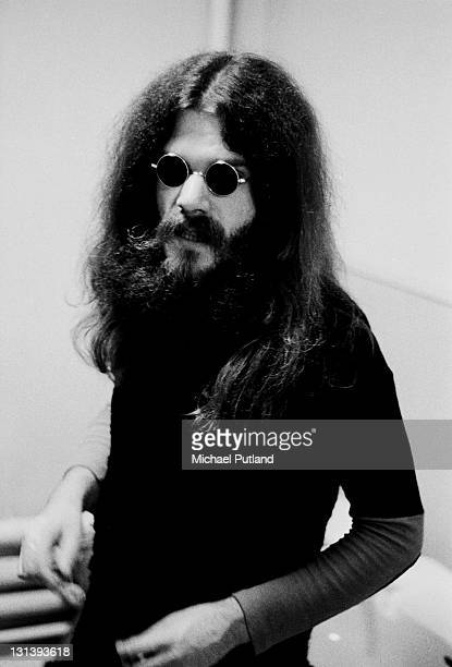 Roy Wood then a member of both The Move and Electric Light Orchestra poses backstage in a dressing room while appearing with The Move on BBC TV show...