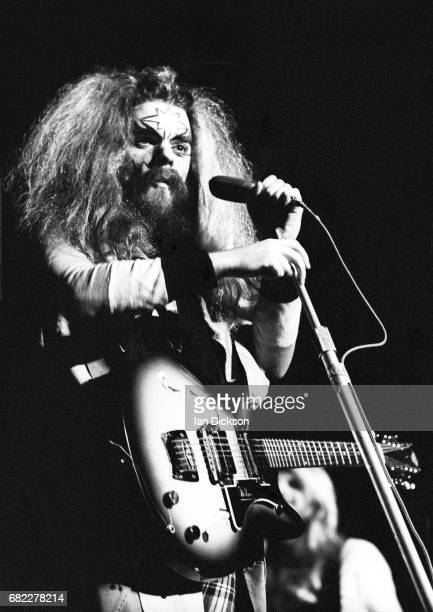 Roy Wood's Wizzard performing on stage at Hammersmith Odeon London 02 March 1974