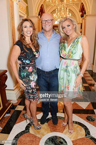 Roya Babaee John Caudwell and Claire Caudwell attend the Caudwell Children Butterfly Ball launch breakfast 2014 at Ancaster House on March 12 2014 in...
