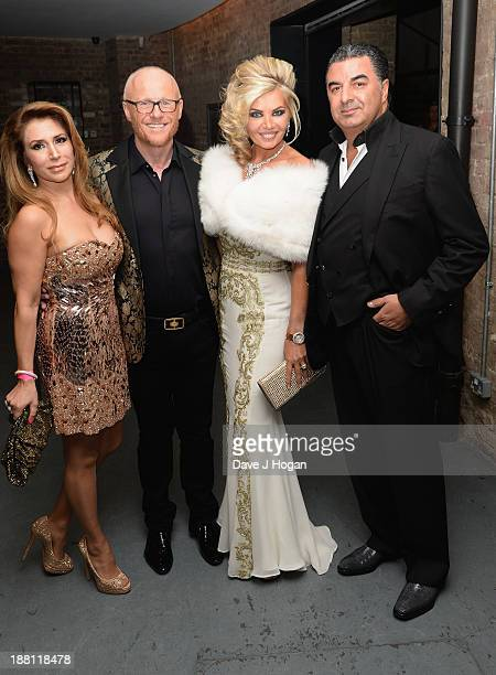 Roya Babaee John Caudwell Claire Caudwell and Kam Babaee attend The Global Angel Awards at the Roundhouse on November 15 2013 in London England