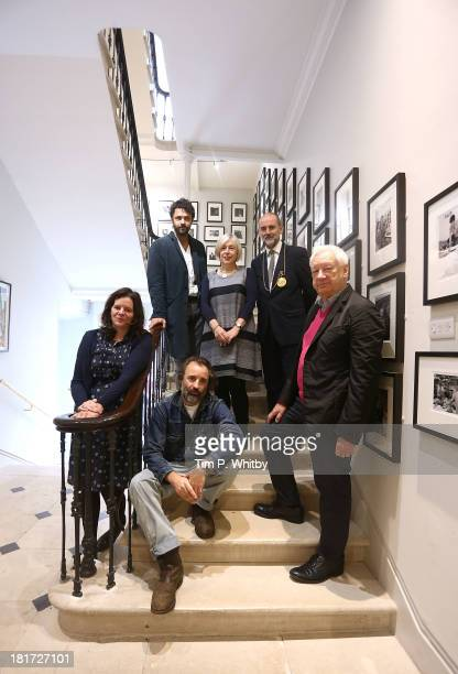 Royal Academicians Chantal Joffe Conrad Shawcross Eileen Cooper Christopher Le Brun Michael Craig Martin and Mike Nelson pose for a photograph ahead...