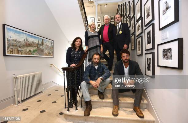 Royal Academicians Chantal Joffe Eileen Cooper Michael Craig Martin Christopher Le Brun Mike Nelson and Conrad Shawcross pose for a photograph ahead...