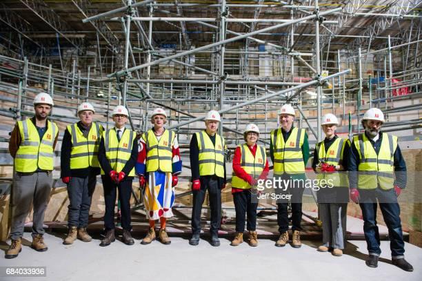 Royal Academicians Conrad Shawcross, Humphrey Ocean, Christopher Le Brun , Grayson Perry, Michael Craig-Martin, Phyllida Barlow, Patrick Brill aka...