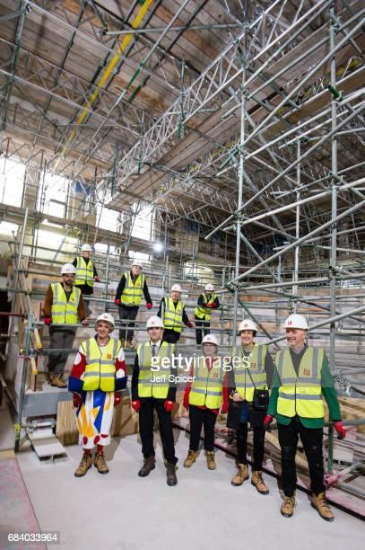 Royal Academicians Rebecca Salter, Humphrey Ocean, Mike Nelson, Conrad Shawcross, Michael Craig-Martin, Christopher Le Brun , Grayson Perry, Phyllida...