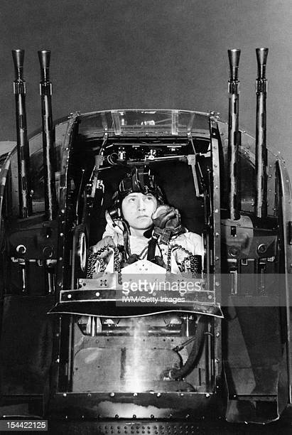 Royal Air Force Bomber Command 19421945 Flight Sergeant J Morgan the rear gunner of an Avro Lancaster of No 630 Squadron RAF at East Kirkby...