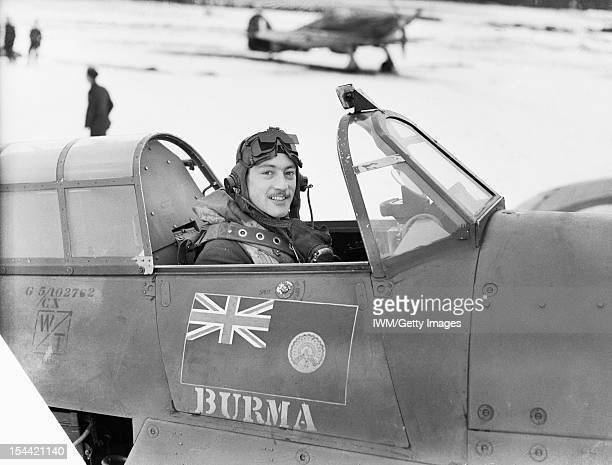 Royal Air Force Fighter Command 19391945 Squadron Leader R R StanfordTuck Commanding Officer of No 257 Squadron RAF sitting in the cockpit of his...