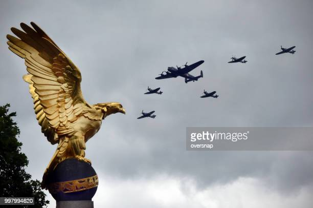 royal air force memorial flight - world war 2 stock photos and pictures