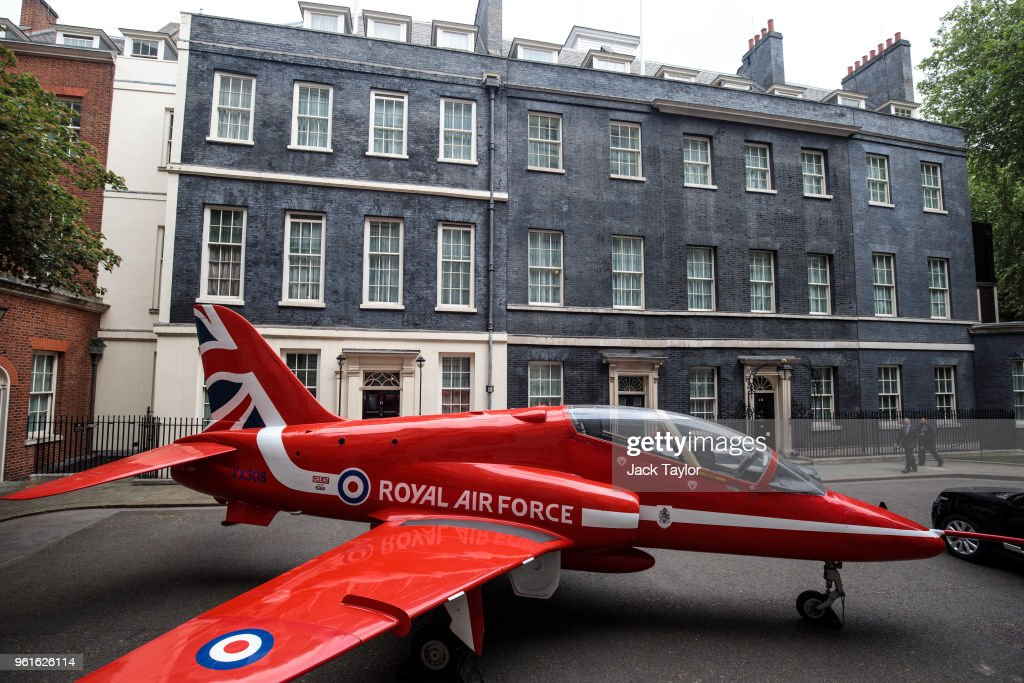 The Red Arrows Mark RAF100 In Downing Street