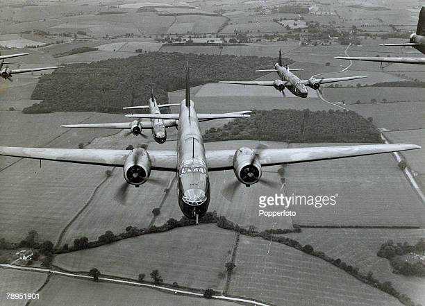 War and Conflict World War Two Aviation pic circa 1940 Royal Air Force Vickers Wellington medium bombers in flight on patrol circa 1940 The Vickers...