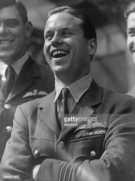 Royal Air Force Wing Commander Guy Gibson after his investiture at Buckingham Palace London 22nd June 1943