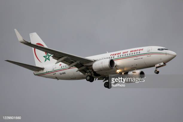 Royal Air Maroc Boeing 737 lands at London Heathrow Airport on 28th October 2020