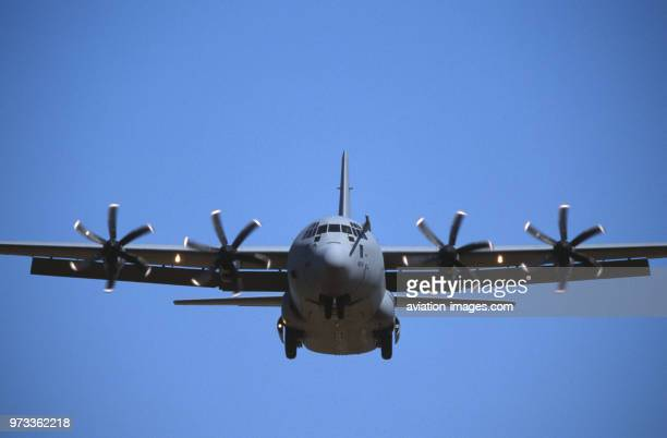 Royal AirForce RAF Lockheed Martin C130J Hercules on finalapproach to the 1999 Fairford Royal International Air Tattoo RIAT RIAT