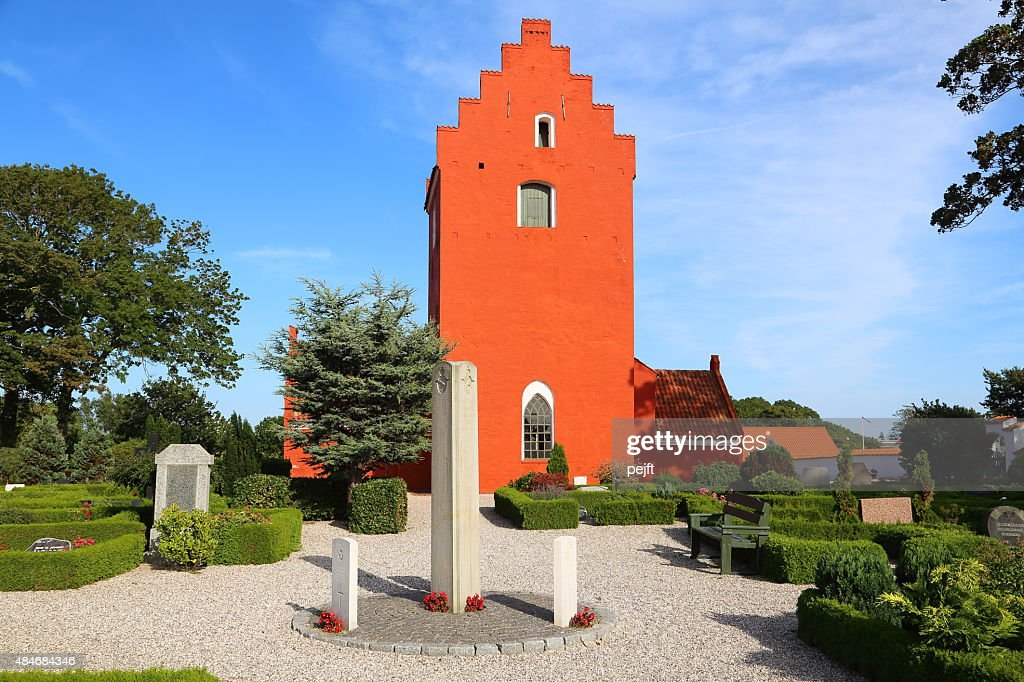 Royal Airforce RAF WWII monument at Odden Kirke cemetery : Stock Photo