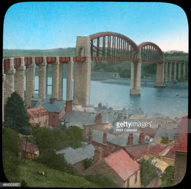 Royal Albert Bridge Saltash Cornwall late 19th or early 20th century Isambard Kingdom Brunel built the Royal Albert Bridge to carry the Great Western...