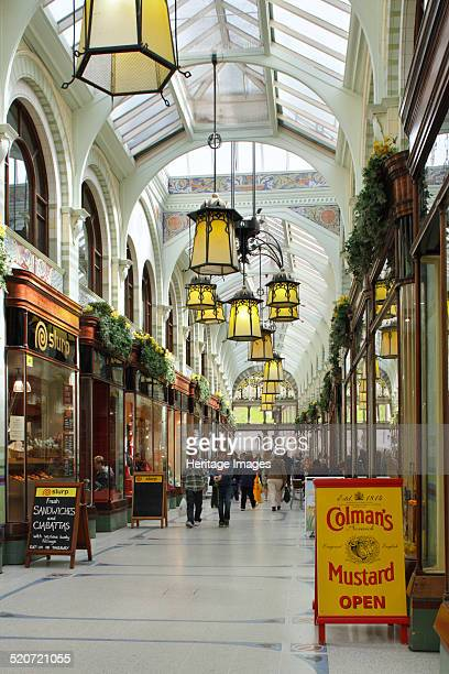 Royal Arcade Norwich Norfolk 2010 Norwich's Royal Arcade was designed in Art Nouveau style 1899 by local architect George Skipper Architecturally it...
