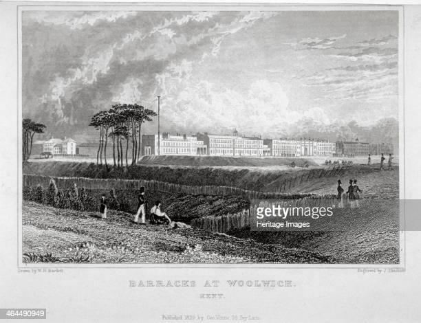 Royal Artillery Barracks Woolwich Kent 1829 The barracks were built between 1776 and 1802