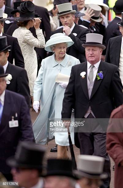 Royal Ascot Race Meeting Thursday - Ladies Day. The Queen Walking Through The Crowd.