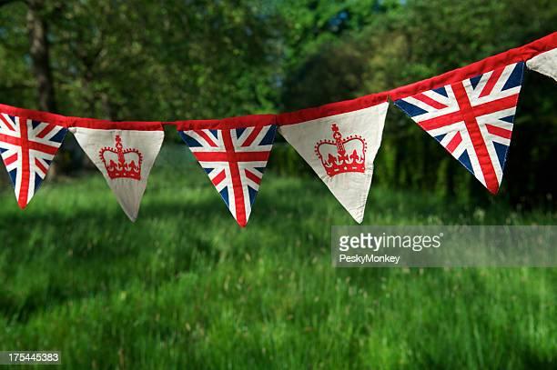 Royal Baby Bunting Union Jack Flag Green Background