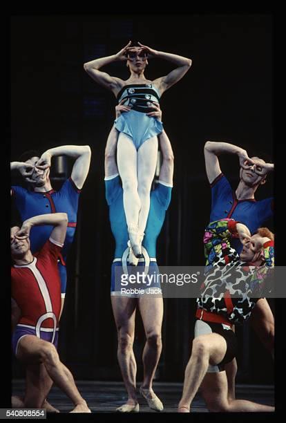 royal ballet production of danses concertantes - robbie jack stock-fotos und bilder