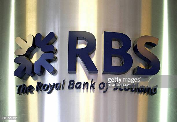 A Royal Bank of Scotland branch logo is pictured in central London 04 June 2007 Royal Bank of Scotland shares plunged by 30 percent on Tuesday...