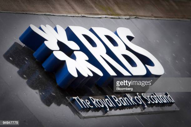 Royal Bank of Scotland Group signage seen outside a branch of the bank in Edinburgh UK on Tuesday Feb 24 2009 Royal Bank of Scotland Group Plc the...