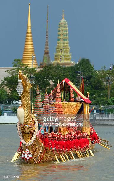 Royal Barge Procession for Royal Kathin Ceremony at Wat Arun, Bangkok, Thailand