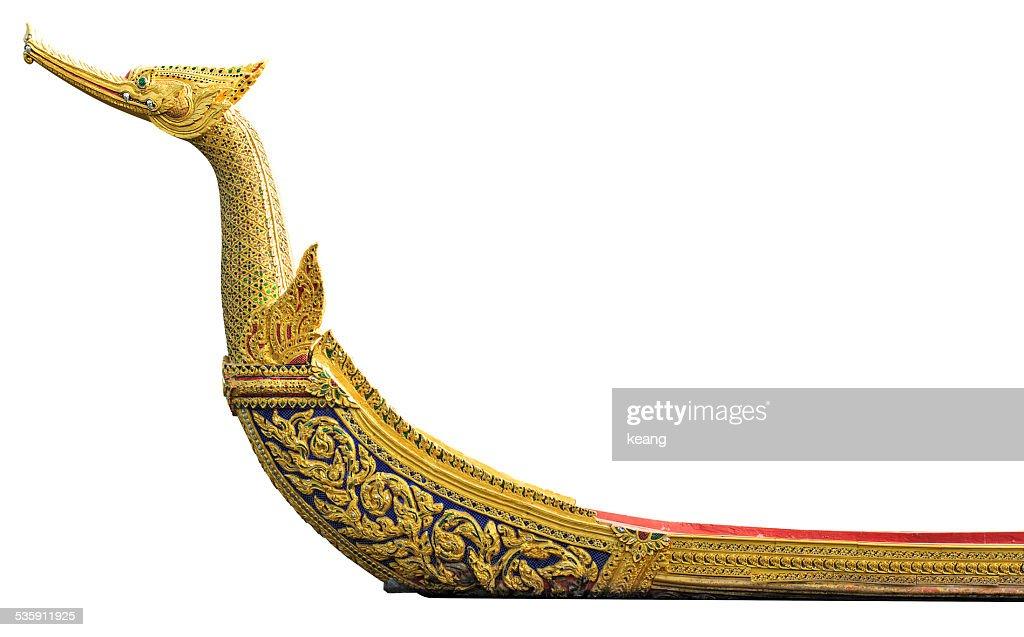 Royal palace barcaza Suphannahong king, aislado sobre fondo blanco : Foto de stock