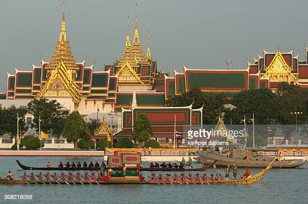 CONTENT] Royal Barge was prepare for last dress rehearsal of the Royal Barge Procession for the Royal Kathin Ceremony at Chaopraya river Bangkok...