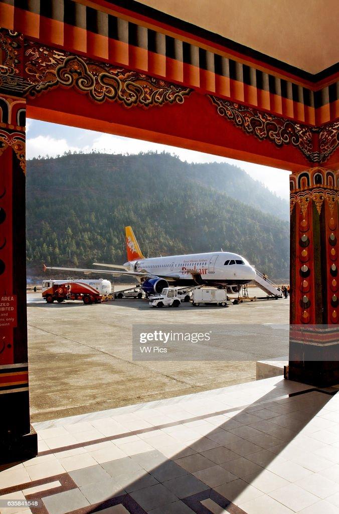 Royal Bhutan Airlines Druk Air Airbus A320 At Paro Airport Bhutan