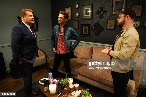 Royal Blood chats in the green room with James Corden during 'The Late Late Show with James Corden' Monday August 14 2017 On The CBS Television...