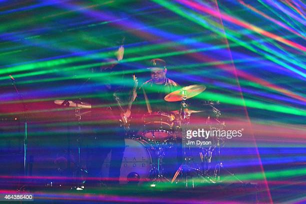 Royal Blood perform on stage at the BRIT Awards 2015 at The O2 Arena on February 25 2015 in London England